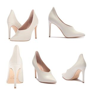 New White leather RACHEL Zoe pumps 8.5